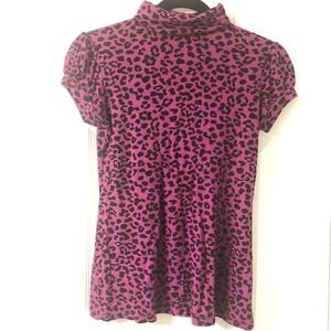 Fleurish magenta and black leopard print top